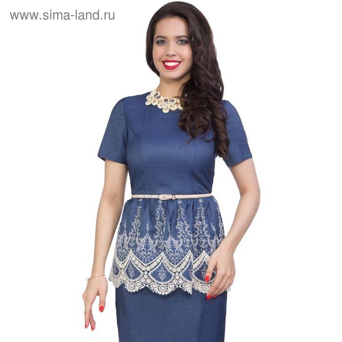 Блуза женская, размер 46, цвет синий М3-3601/10