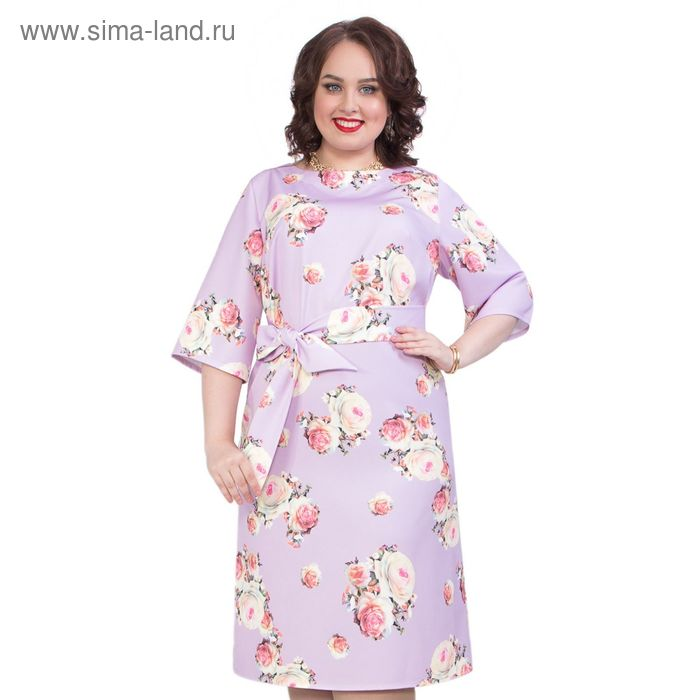 Платье женское, размер 54, цвет сиреневый П4-3635/1