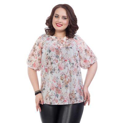 Блуза женская, размер 56, цвет розовый М4-3651/1