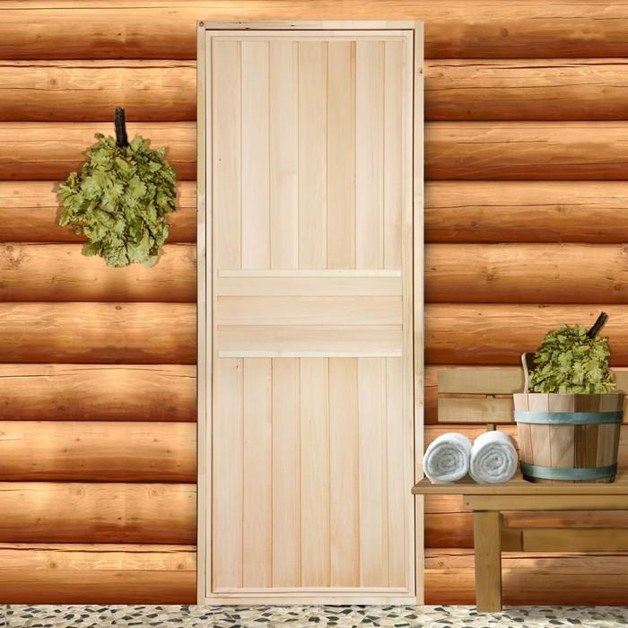 """Дверь для бани """"ЭКСТРА"""", вертикаль, 170х80см"""