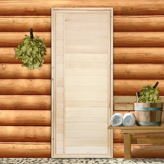"""Дверь для бани """"Горизонталь"""", 160х80см"""
