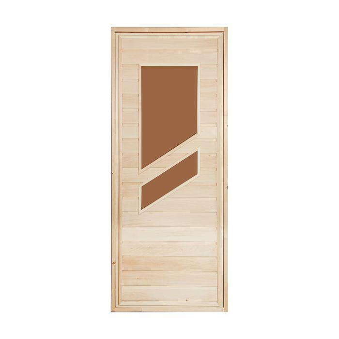 """Дверь для бани и сауны """"Стекло """", 160х80см"""