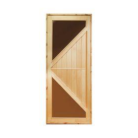 """Дверь для бани и сауны """"Углы"""", 160х80"""