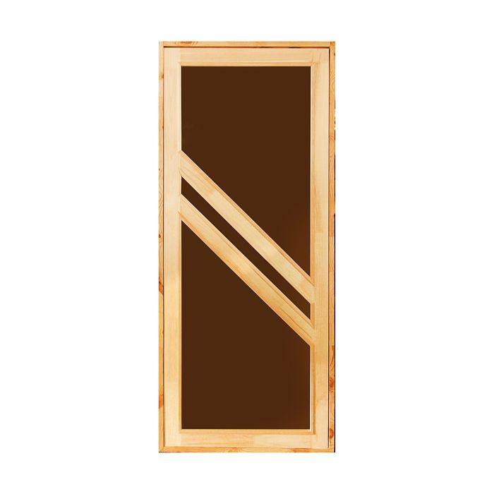 """Дверь для бани и сауны """"Диагональ"""", 160х80см"""