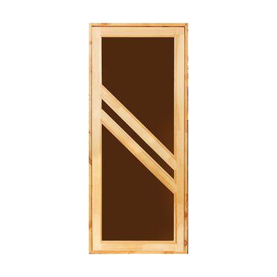 """Дверь для бани и сауны """"Диагональ"""", 190х80см"""