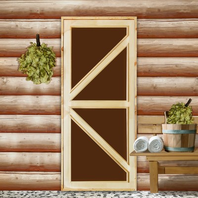 """Дверь для бани со стеклом """"Бавария"""", 190×80см"""