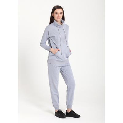 Костюм женский (толстовка, брюки) 6548 цвет серый, р-р 50, рост 164 ,
