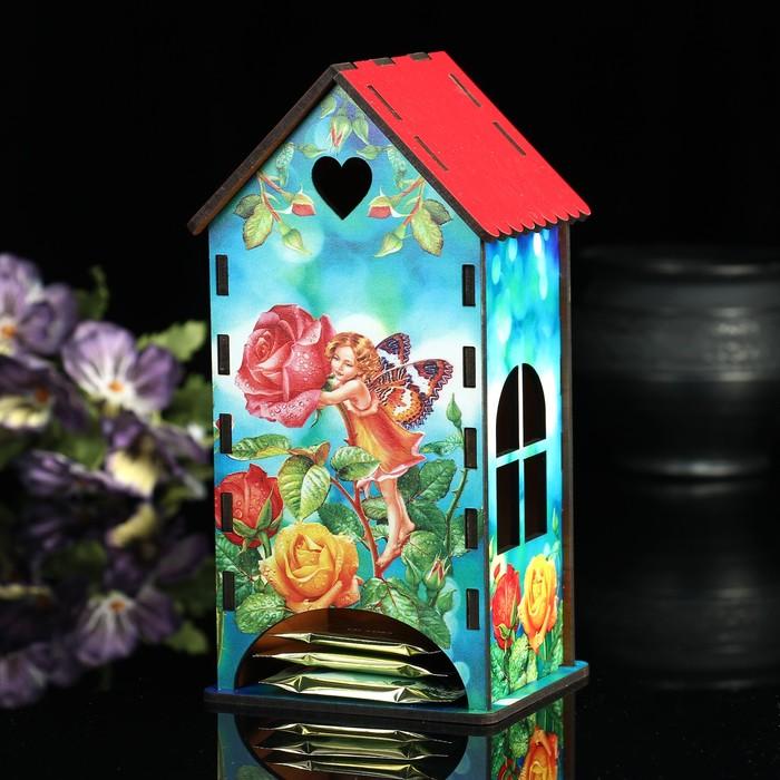 Чайный домик «Фея: Розы», 9,3х9,3х20 см