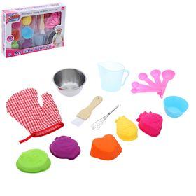 """Набор металлической посуды """"Пекарь"""" с силиконовыми формочками, 12 предметов"""