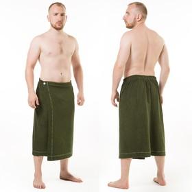 Килт(юбка) муж. махр. арт:КТР-1. 70Х150 темно-зеленый, трикотаж, 190г/м, хл80%, пэ20%