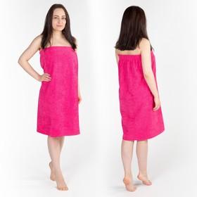 Килт(юбка) женский, махровый, малиновый цвет, 80х150+-2