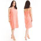 Килт(юбка) женский махровый, 80х150+-2, цвет персиковый - фото 1734991