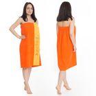 Килт(юбка) жен. махр., вышивка, арт:КМ-5, 80х160 оранж, Хл, 300г/м