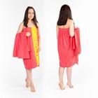Набор д/сауны махр. жен (Килт(юбка)80х160, полотенце 50х90), цвет коралловый