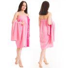 Набор д/сауны махр. жен (Килт(юбка)80х160, полотенце 50х90), цвет розовый