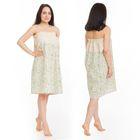 Килт(юбка) жен. комбинированный, арт:КЛ-11 75х145 ромашка, полулён, Хл50%, лён50%, 160 г/м