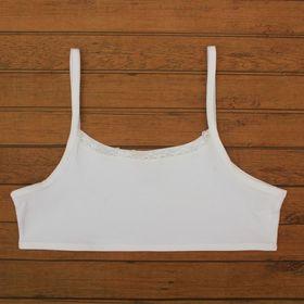 Топ для девочки, рост122-128 см, цвет белый CAJ 2305