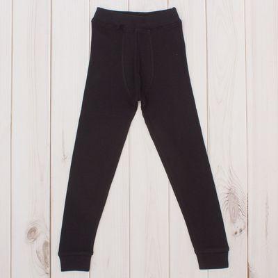Кальсоны для мальчика, рост104 см, цвет чёрный CWK 1070