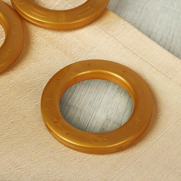 Люверсы для штор, d = 4/6,5 см, 10 шт, цвет золотой