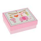 """Коробка подарочная """"Слоник"""", розовая, 12 х 14 х 5 см"""