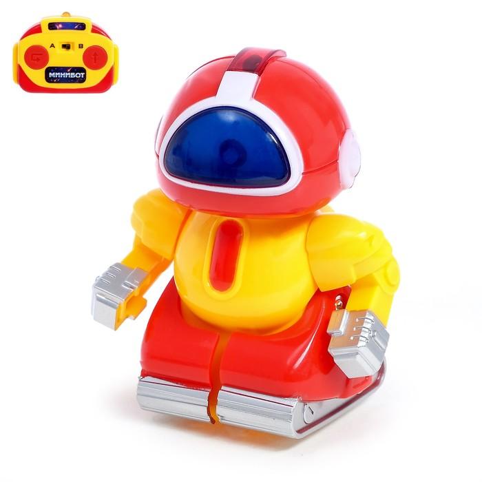 Робот радиоуправляемый «Минибот», световые эффекты, цвет красный