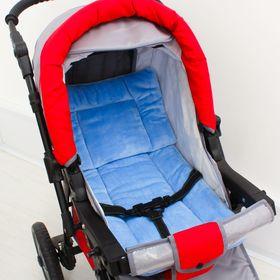 Набор для детской коляски, 2 предмета ( подушка-40х40, матрас-40х70) цвет голубой 22102 Ош