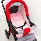 Набор для детской коляски (велсофт премиум) 2 предмета ( подушка-40х40, матрас-40х70), цвет