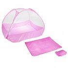 Манеж-палатка для ребёнка, москитная сетка на молнии, подушка и матрасик в комплекте, цвет розовый