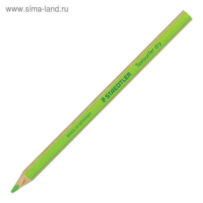 Карандаш текстовыделитель 4.0 мм Staedtler, трёхгранный корпус, неон зелёный 128 64-5