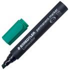 Маркер перманентный скошенный 2.0-5.0 мм Staedtler Lumocolor, зелёный