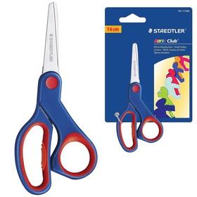Ножницы 14см Staedtler прорезин ручки, сине-красные, европодвес 965 14 NBK