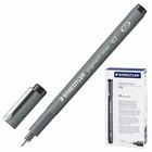 Ручка капиллярная Staedtler 0,2 мм, линер, чернила чёрные 308 02-9