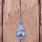 "Wooden keychain nesting doll ""Moscow. The Cathedral of Christ the Savior,"" a 2.7*5 cm"
