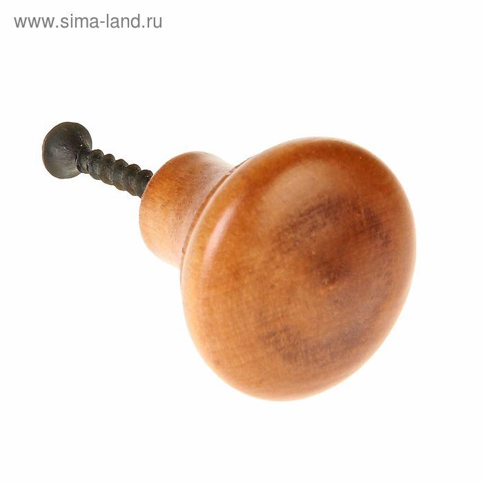 """Ручка-кнопка Алапаевск, """"Грибок"""", цвет бук"""