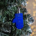 """Подвеска световая """"Варежка синяя"""" (батарейки в комплекте), 7,5 см, 1 LED, RGB"""