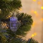 "Подвеска световая ""Варежка серебряная"" (батарейки в комплекте), 7,5 см, 1 LED, RGB"