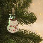 """Подвеска световая """"Снеговик"""" (батарейки в комплекте), 8,5 см, 1 LED, RGB"""