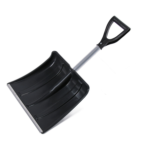 Лопата автомобильная пластиковая, ковш 380 × 370 мм, с алюминиевой планкой, алюминиевый черенок, с ручкой, «Мини»