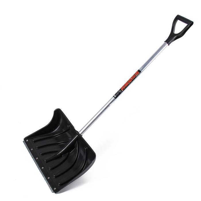 Лопата пластиковая «Буран», ковш 505 × 340 мм, с оцинкованной планкой, алюминиевый черенок
