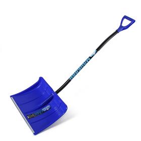 Лопата пластиковая, ковш 500 × 375 мм, с алюминиевой планкой, алюминиевый эргономичный черенок, «Монблан»