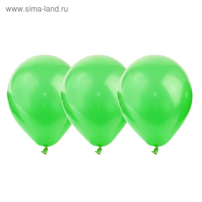 """Шар латексный 12"""", металл, набор 25 шт., цвет светло-зелёный"""