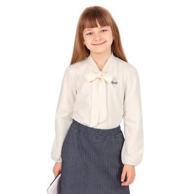 """Джемпер для девочки """"Школьная пора"""", рост 122 см (62), цвет белый, принт сердце ДДД681804"""
