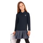 """Платье для девочки """"Школьная пора"""", рост 122 см (62), цвет тёмно-синий, принт сердце ДПД6858   26263"""