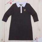 """Платье для девочки """"Школьная пора"""", рост 122 см (62), цвет антрацит, принт сердце ДПД144858   262638"""