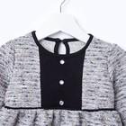 Платье для девочки «Крем и карамель», цвет серый/белый, рост 92 см - фото 105572624