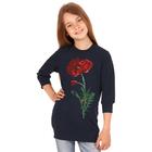 """Джемпер для девочки """"Маки"""", рост 116 см (60), цвет тёмно-синий ДДД337258"""