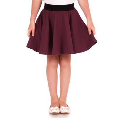 """Юбка для девочки """"Баллада"""", рост 98 см (52), цвет бордовый"""