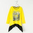 """Джемпер для девочки """"Каприз"""", рост 146 см (76), цвет желтый/чёрный"""