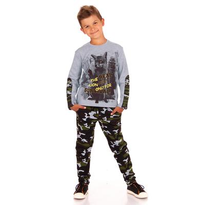 """Брюки для мальчика """"Хищники"""", рост 128 см (64), цвет камуфляж ПББ381858н"""