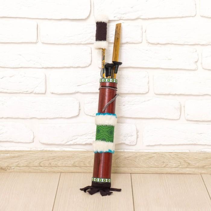 "Декоративное оружие ""Массаи"" лук и колчан дерево 60 см МИКС"